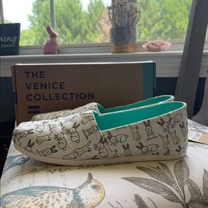 Toms Shoes   White Bunny Toms   Poshmark